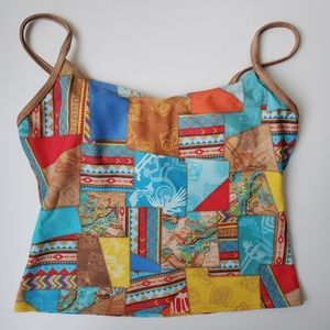 Vintage 90's crop top in Patchwork style